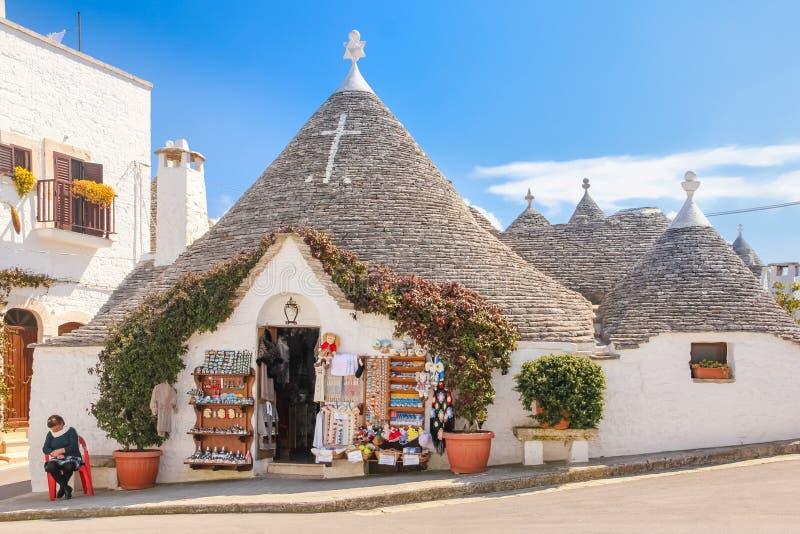 Παραδοσιακό Trulli Alberobello Apulia Ιταλία στοκ φωτογραφίες