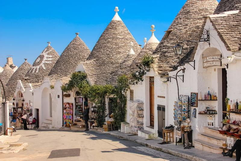 Παραδοσιακό Trulli Alberobello Apulia Ιταλία στοκ φωτογραφία