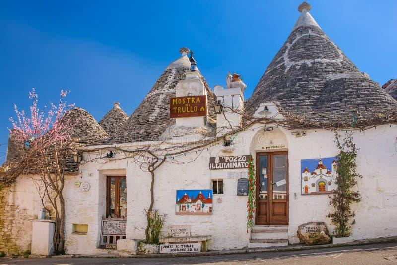 Παραδοσιακό Trulli Alberobello Apulia Ιταλία στοκ εικόνες με δικαίωμα ελεύθερης χρήσης
