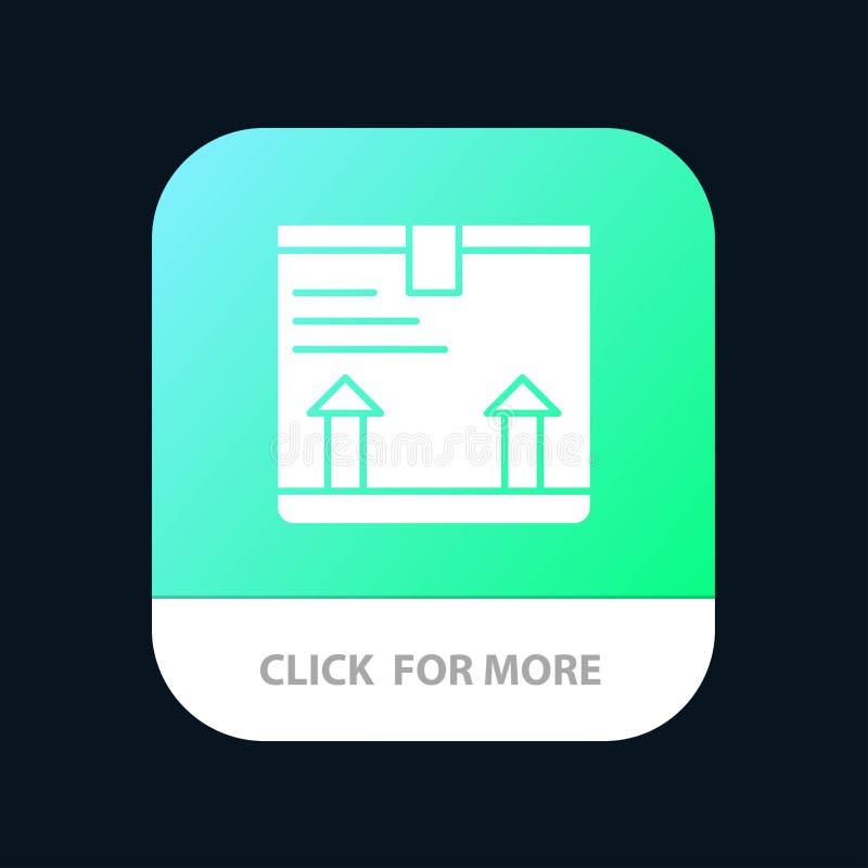 Παραδώστε, κιβώτιο, βέλος, επάνω κινητό App σχέδιο εικονιδίων ελεύθερη απεικόνιση δικαιώματος