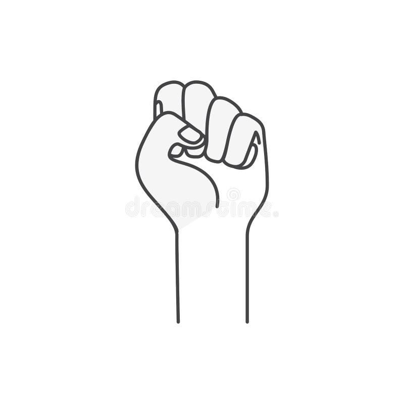 Παραδώστε το απομονωμένο σήμα εικονίδιο πάλης διανυσματική απεικόνιση