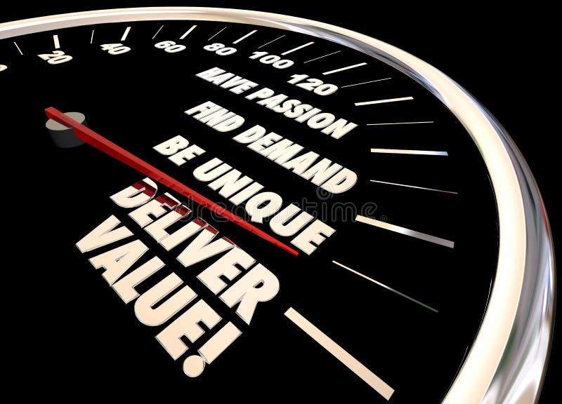 Παραδώστε το ταχύμετρο αξίας διανυσματική απεικόνιση