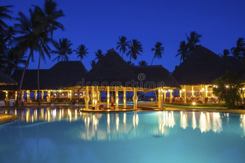 Παραθαλάσσιο θέρετρο παραδείσου Ποσειδώνα & ξενοδοχείο SPA στην Κένυα στοκ φωτογραφίες με δικαίωμα ελεύθερης χρήσης