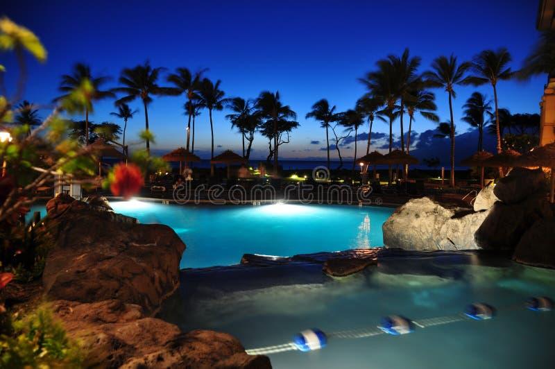 Παραθαλάσσιο θέρετρο Maui στοκ εικόνες