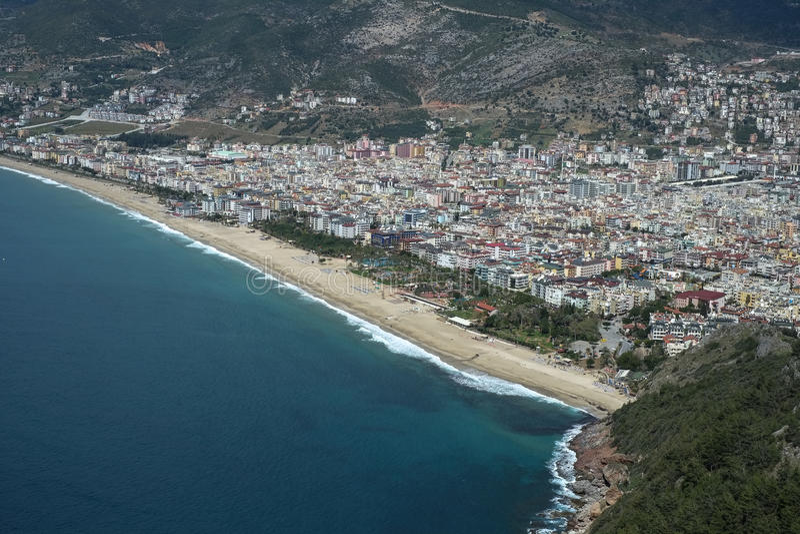 Παραθαλάσσιο θέρετρο άμμου της Κλεοπάτρας της Τουρκίας Alanya στοκ εικόνα με δικαίωμα ελεύθερης χρήσης