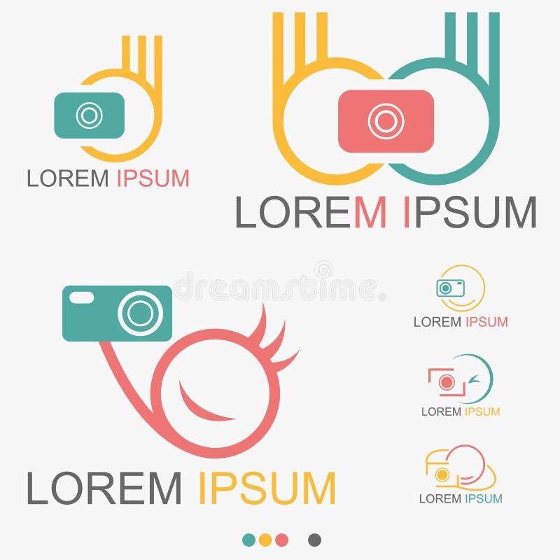 Παραθυρόφυλλο φωτογράφων με το λογότυπο καμερών - διάνυσμα απεικόνιση αποθεμάτων