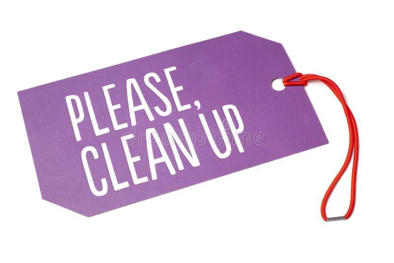 Παρακαλώ καθαρίστε επάνω το TAG ΞΕΝΟΔΟΧΕΙΩΝ στοκ εικόνες με δικαίωμα ελεύθερης χρήσης