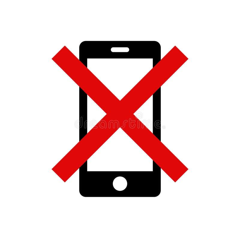 Παρακαλώ κατασιγάστε το κινητό τηλέφωνό σας - προειδοποιητικό σημάδι αριθ. 1 απεικόνιση αποθεμάτων