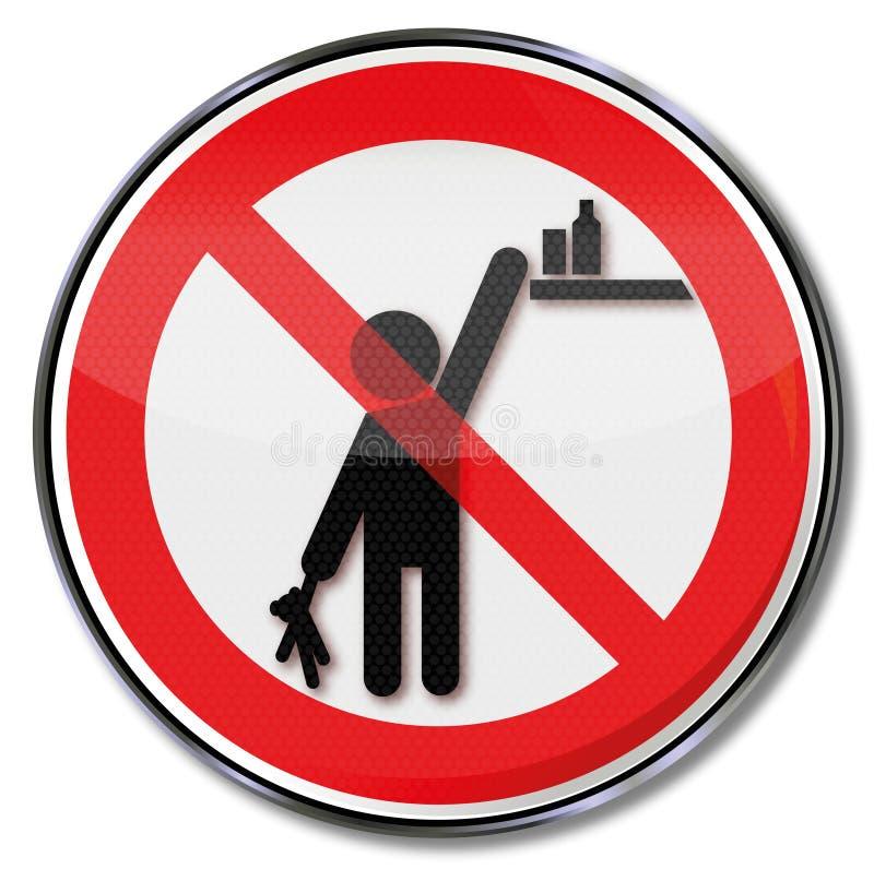 Παρακαλώ κρατήστε τα προϊόντα από την προσιτότητα από τα παιδιά ελεύθερη απεικόνιση δικαιώματος