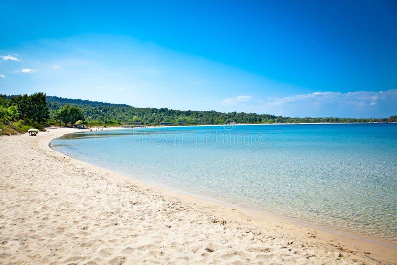 Παραλία άμμου Paliouri, Halkidiki, Ελλάδα στοκ εικόνες
