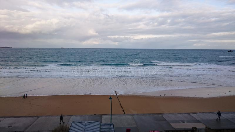 Παραλία Αγίου Malo στοκ εικόνα