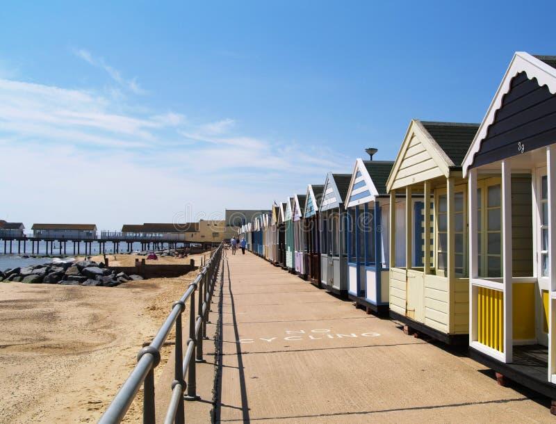 παραλία αγγλικό Σάφολκ στοκ φωτογραφίες
