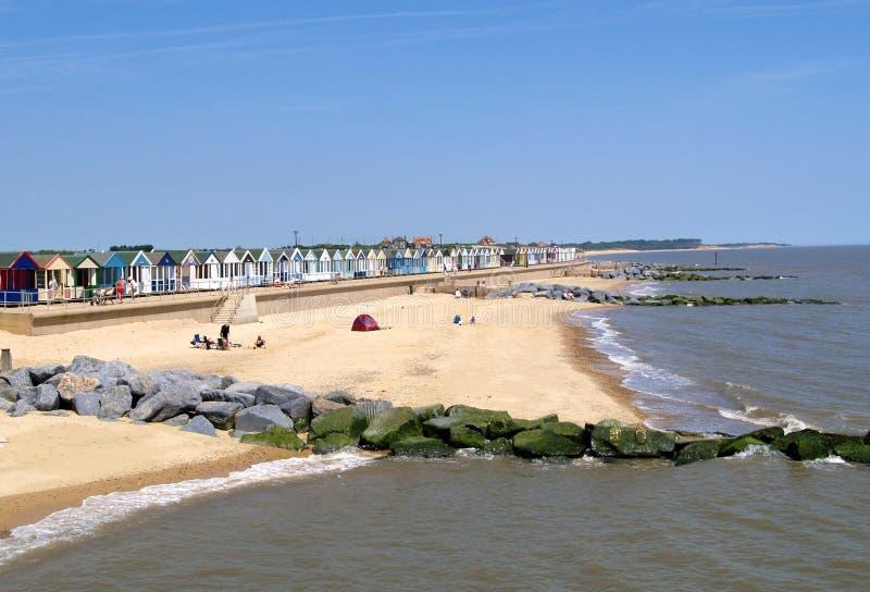 παραλία αγγλικό Σάφολκ στοκ φωτογραφίες με δικαίωμα ελεύθερης χρήσης