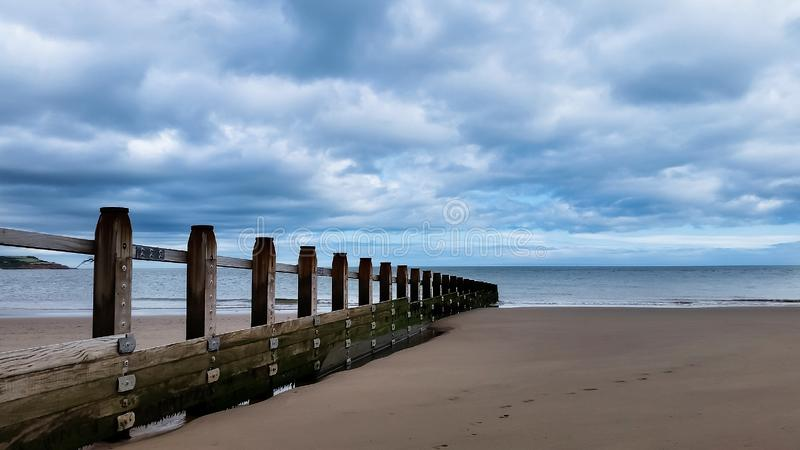 Παραλία, αγγλικό χωριό, Dawlish Warren, Devon, UK στοκ εικόνα με δικαίωμα ελεύθερης χρήσης