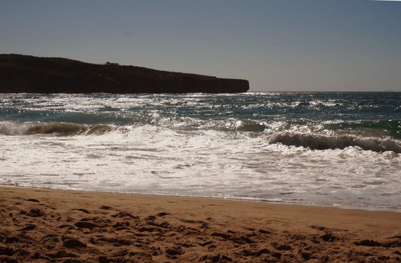 Παραλία Αλγκάρβε Πορτογαλία Bordeira στοκ εικόνες με δικαίωμα ελεύθερης χρήσης
