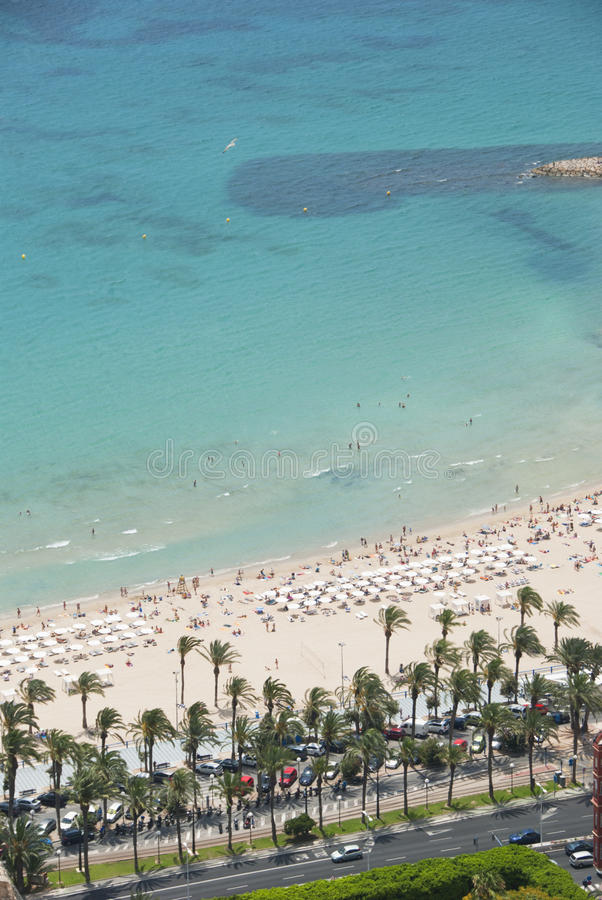 Παραλία, Αλικάντε, Ισπανία στοκ φωτογραφία