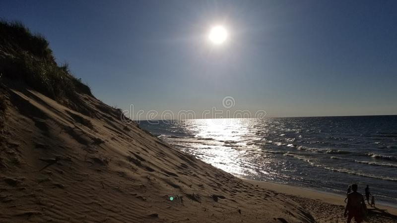Παραλία αμμόλοφων στοκ φωτογραφία με δικαίωμα ελεύθερης χρήσης