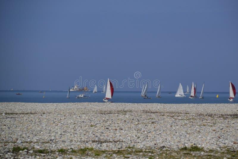 Παραλία από τη Χάβρη Γαλλία στοκ εικόνα με δικαίωμα ελεύθερης χρήσης