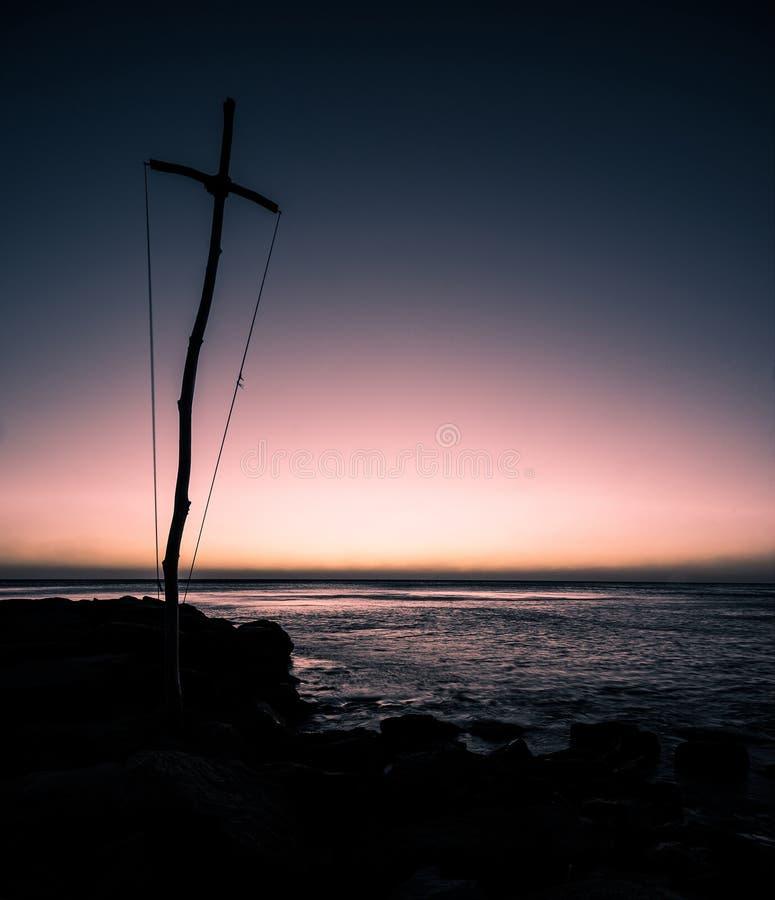 Παραλία βραδιού στοκ εικόνα με δικαίωμα ελεύθερης χρήσης