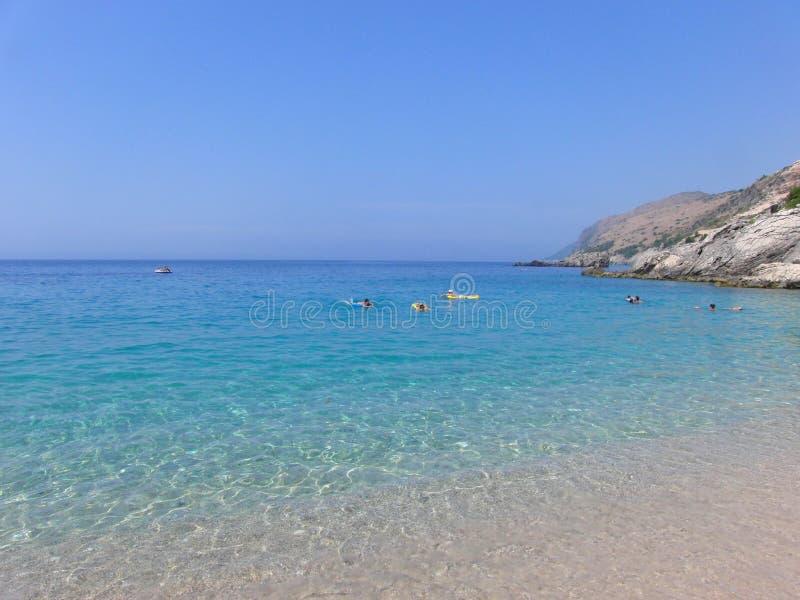 Παραλία διακοπών της Αλβανίας στοκ φωτογραφία