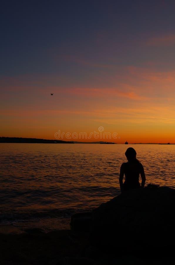 Παραλία 01 ηλιοβασιλέματος στοκ φωτογραφία με δικαίωμα ελεύθερης χρήσης