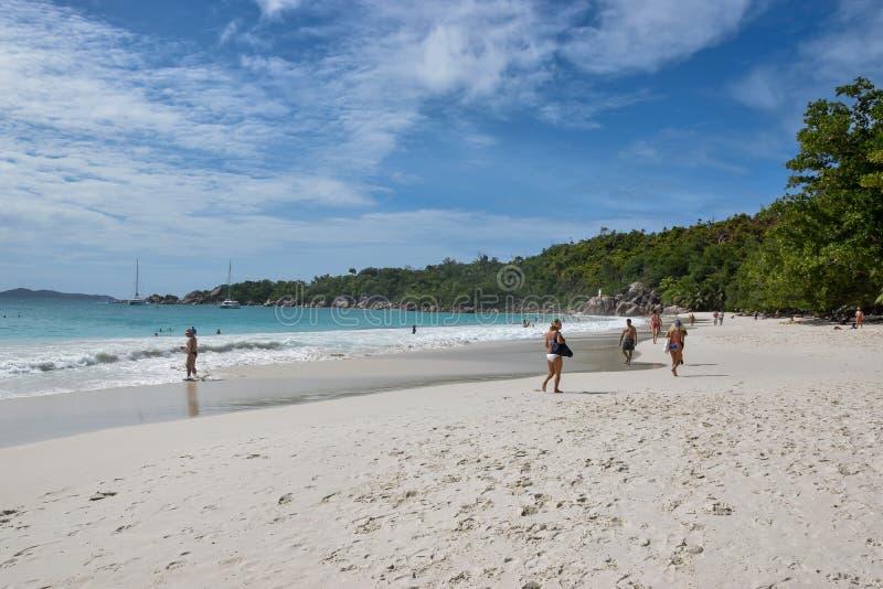 Παραλία - ηλιόλουστες Σεϋχέλλες στοκ φωτογραφία με δικαίωμα ελεύθερης χρήσης