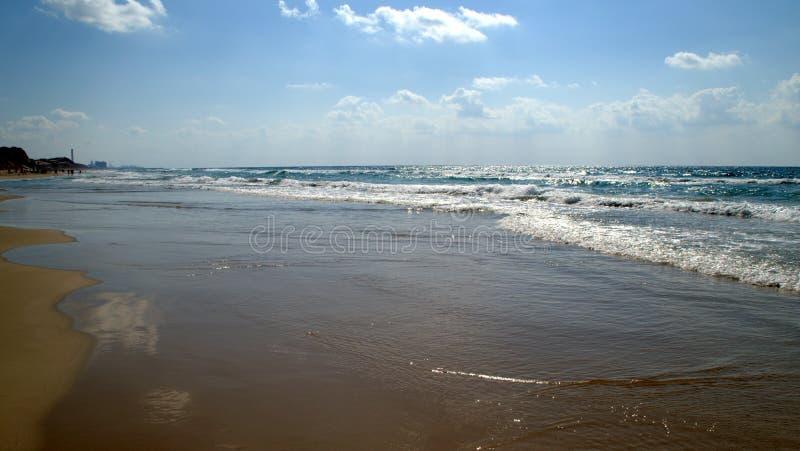 Παραλία θάλασσας το καλοκαίρι στοκ φωτογραφίες με δικαίωμα ελεύθερης χρήσης
