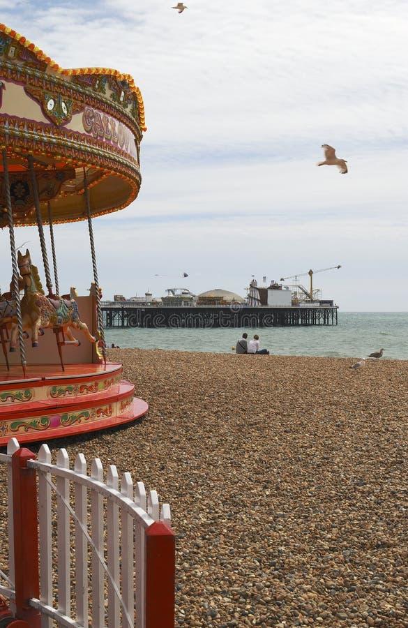 Παραλία και αποβάθρα του Μπράιτον. Σάσσεξ. UK στοκ εικόνες