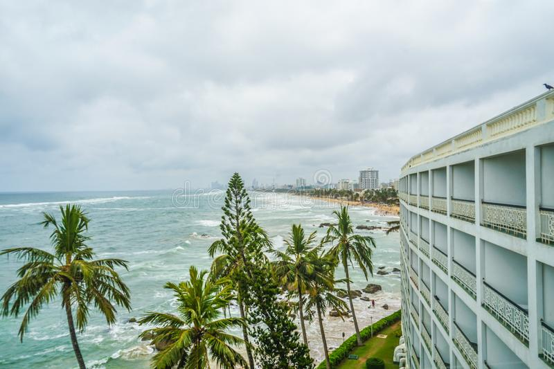 Παραλία και πόλη του Κολόμπο, Σρι Λάνκα στοκ εικόνα με δικαίωμα ελεύθερης χρήσης