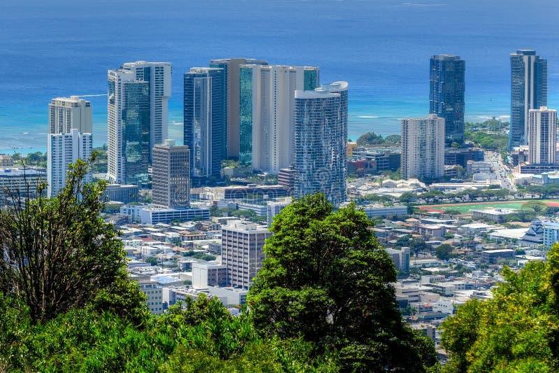 Παραλία και Χονολουλού Waikiki στοκ εικόνες