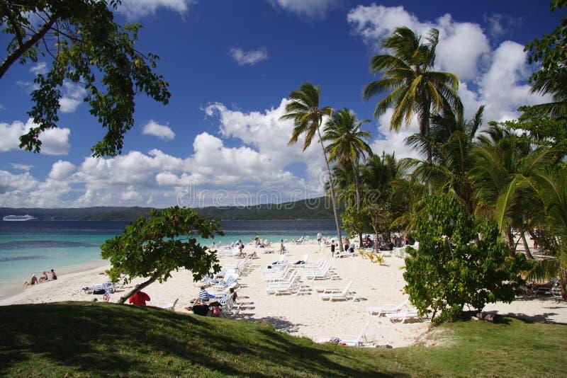 παραλία Καραϊβικές Θάλασσες στοκ εικόνες με δικαίωμα ελεύθερης χρήσης