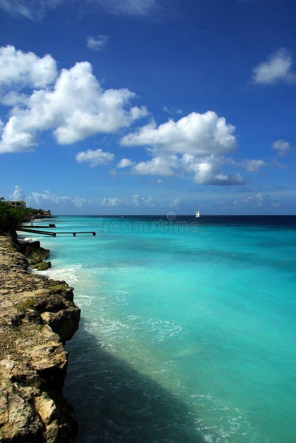 παραλία Καραϊβικές Θάλασ&sig στοκ εικόνες με δικαίωμα ελεύθερης χρήσης