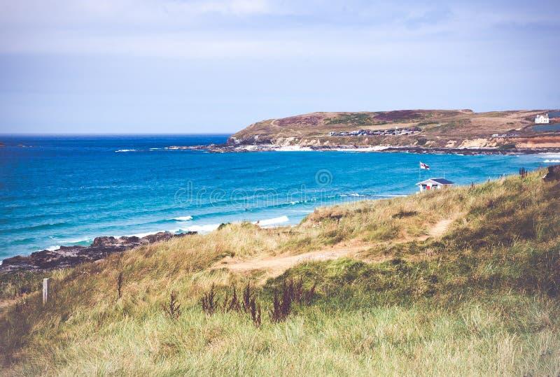 Παραλία Κορνουάλλη UK κόλπων του ST Ives στοκ εικόνα με δικαίωμα ελεύθερης χρήσης