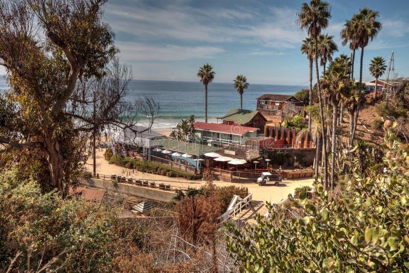 Παραλία κρατικών πάρκων όρμων κρυστάλλου γραμμών εξοχικών σπιτιών παραλιών στοκ φωτογραφία με δικαίωμα ελεύθερης χρήσης