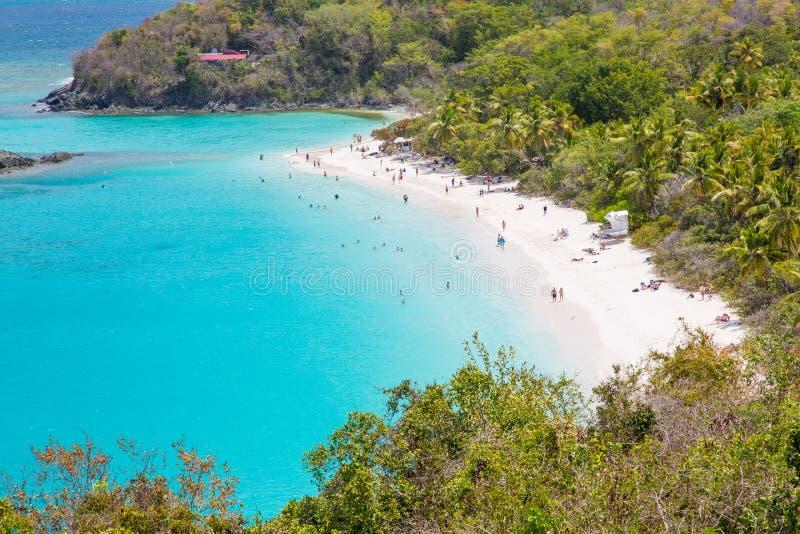 Παραλία κόλπων κορμών στο ST John στους αμερικανικούς Παρθένους Νήσους στοκ εικόνες με δικαίωμα ελεύθερης χρήσης
