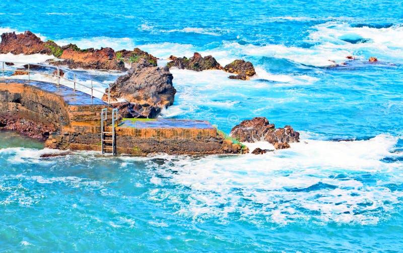 Παραλία με κύματα στοκ εικόνες