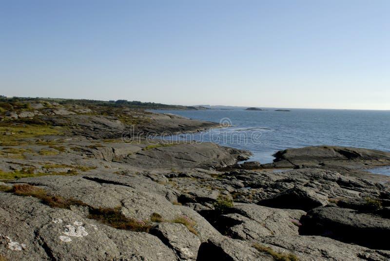 παραλία Νορβηγία δύσκολη στοκ εικόνα με δικαίωμα ελεύθερης χρήσης