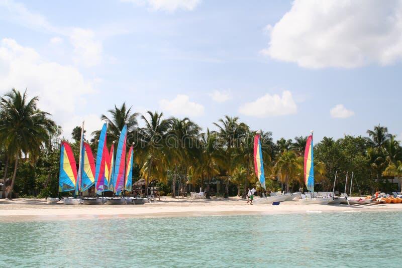 Παραλία παραδείσου που πλέει ΙΙ στοκ εικόνες
