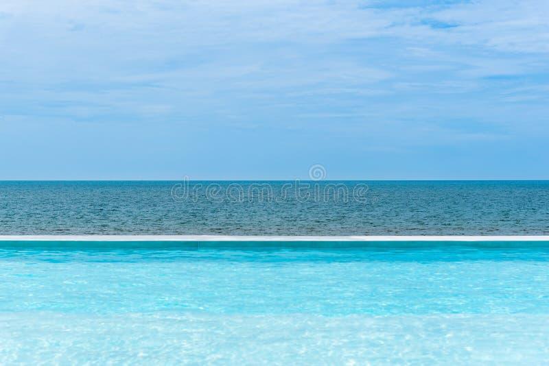 Παραλία πισινών η θάλασσα με τον ορίζοντα του ουρανού στοκ φωτογραφία με δικαίωμα ελεύθερης χρήσης