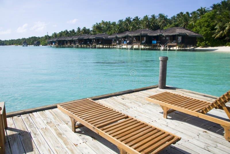παραλία που αντιμετωπίζε στοκ εικόνα με δικαίωμα ελεύθερης χρήσης