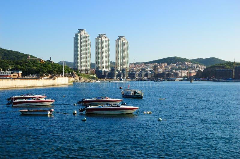 Παραλία πόλεων Dalian στοκ εικόνες