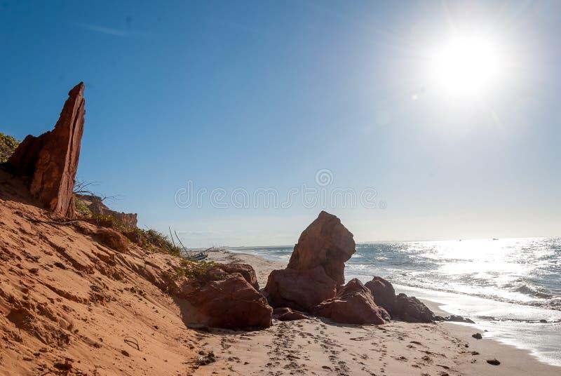 Παραλία σε Nordeste Βραζιλία στοκ εικόνα