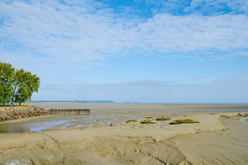Παραλία στη Βρετάνη, Άγιος benoît des ondes, Γαλλία στοκ φωτογραφίες με δικαίωμα ελεύθερης χρήσης