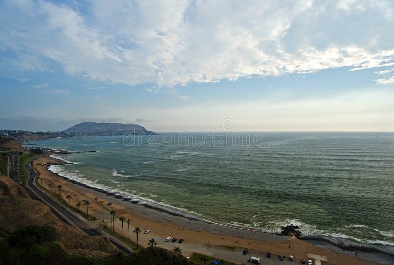Παραλία στη Λίμα στοκ εικόνα με δικαίωμα ελεύθερης χρήσης