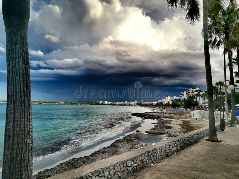 Παραλία στη Calla Millor στην Ισπανία, Majorca στοκ φωτογραφία με δικαίωμα ελεύθερης χρήσης