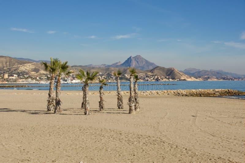 Παραλία στη EL Campello, Ισπανία στοκ φωτογραφία