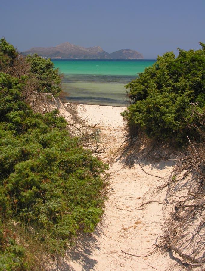 παραλία στον τρόπο στοκ φωτογραφίες με δικαίωμα ελεύθερης χρήσης
