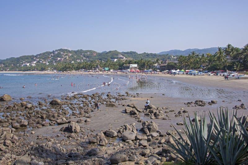 Παραλία στο μεξικάνικο Ειρηνικό Ωκεανό στοκ εικόνες