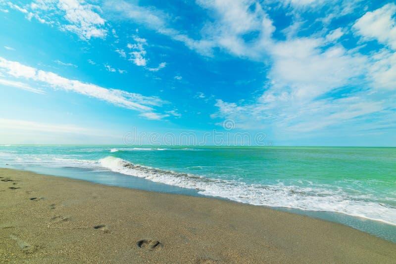Παραλία της Βενετίας κάτω από έναν νεφελώδη ουρανό στοκ φωτογραφία με δικαίωμα ελεύθερης χρήσης