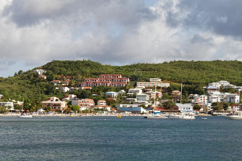 Παραλία της Μαρτινίκα - Anse Mitan σε Les Trois Ilets στοκ εικόνα